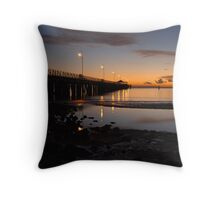 Sandgate Pier Throw Pillow
