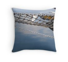 Old sailing boat. Throw Pillow