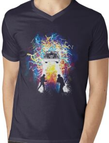 Time Travelers Mens V-Neck T-Shirt