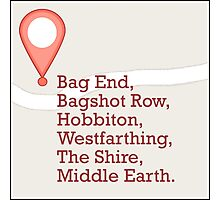 If Middle Earth Had GPS Photographic Print