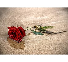 Love In The Sand Photographic Print