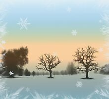 Winters Day Window Scenery by Linda Allan