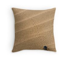 Dung Beetle, Thar Desert, Rajasthan, India Throw Pillow