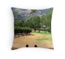 Children in a Vineyard Throw Pillow