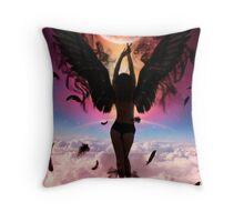 Wake Dark Angel Throw Pillow