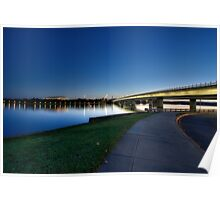 The Blue Sunset At The Lake Burley Griffin  Poster