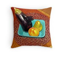 Nosy Egghead Checks Out a Pair of Peachy Girls Throw Pillow