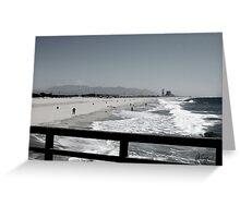 BEACH AT PORT HUENEME Greeting Card