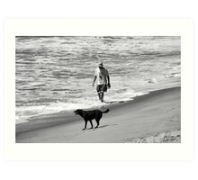 DOG DAY AT THE BEACH Art Print