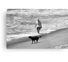 DOG DAY AT THE BEACH Metal Print