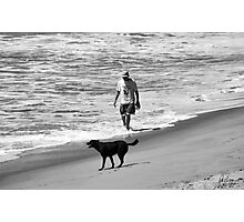 DOG DAY AT THE BEACH Photographic Print