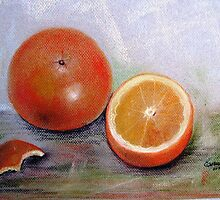 Simple delicious, Pastel painting by Esperanza Gallego