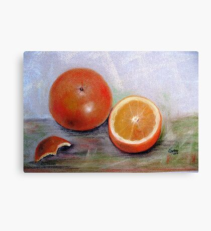 Simple delicious, Pastel painting Canvas Print