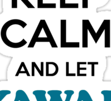 Keep Calm and Let YAWAR Handle it Sticker