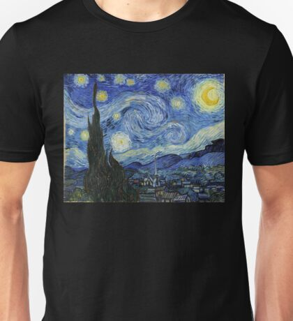Vincent Van Gogh starry night Unisex T-Shirt