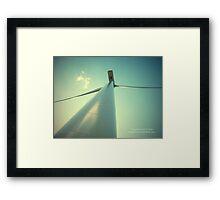 Embracing The Wind Framed Print