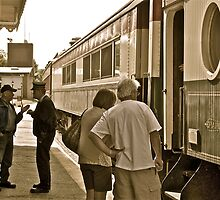 """""""The Engineer and Conductor Confer"""" - Conway Scenic RR Series - © 2009 by Jack McCabe"""