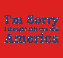 Im sorry I thought this was still America by Sara Wood