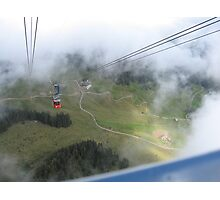 Going down from Mt Pilatus  Photographic Print