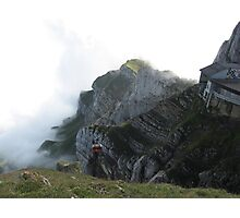 Gondola departing Mt Pilatus , Switzerland Photographic Print