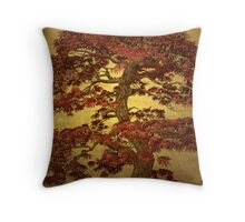 Red Maple Bonsai Throw Pillow