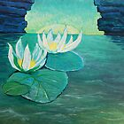 Oil Painting - Water Lilies, 1990 by Igor Pozdnyakov