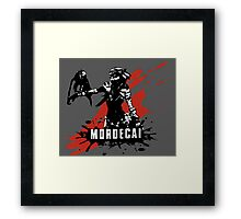 Mordecai (Colored BG) Framed Print