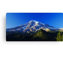 Blue Rainier Panorama Canvas Print