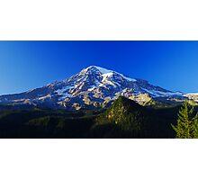 Blue Rainier Panorama Photographic Print