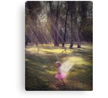 """Woodland Angel"" - A Tribute To Breast Cancer Awareness Canvas Print"