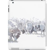 Sheep with patches of brown wool iPad Case/Skin