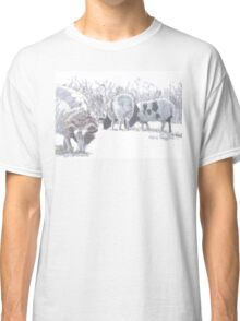 Sheep with patches of brown wool Classic T-Shirt