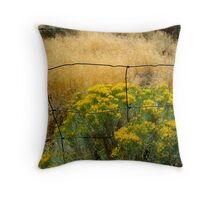 fence frame Throw Pillow