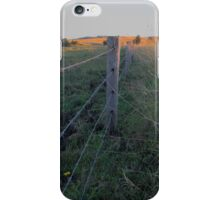 sunset in the paddock iPhone Case/Skin
