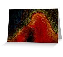under the volcano....spirit eruption Greeting Card