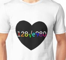 128√e980 - I love you 2 Unisex T-Shirt