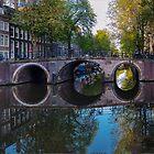 Amsterdam bridge reflections. by naranzaria