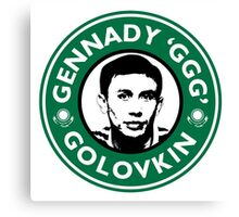 Gennady Golovkin - Starbucks Parody Canvas Print
