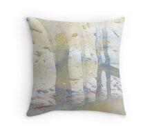watercolour limpet Throw Pillow