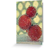 Retro Fruit Greeting Card