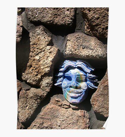 Blue Mask Poster