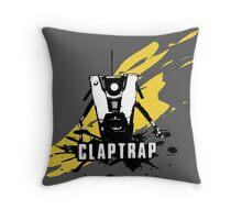 Claptrap (Colored BG) Throw Pillow