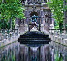 Medici Fountain in Luxembourg Garden by randyharris