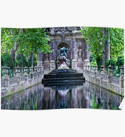 Medici Fountain in Luxembourg Garden Poster