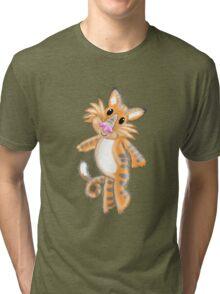Hairy little TIGER stripe Tri-blend T-Shirt