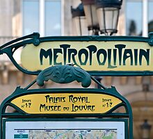 Paris Metro Sign by randyharris