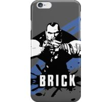 Brick (Colored BG) iPhone Case/Skin