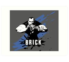 Brick (Grey) Art Print