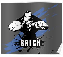 Brick (Colored BG) Poster