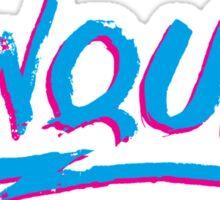 Conquer: 80's Hand-Rendered Type Sticker